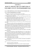Giáo án an toàn điện-chương 8: Dụng cụ, phương tiện cần thiết cho an toàn điện, cứu người khi bị điện giật