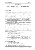 Giáo án an toàn điện-chương 3: Phân tích an toàn các mạng điện
