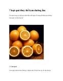 7 loại quả thay thế kem dưỡng ẩm