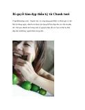 Bí quyết làm đẹp thần kỳ từ Chanh tươi (Tapchilamdep.com) - Ngoài việc có công