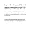 Lung linh show diễn váy cưới 2011 - 2012