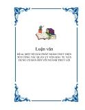Đề tài: MỘT SỐ GIẢI PHÁP NHẰM THỰC HIỆN TỐT CÔNG TÁC QUẢN LÝ VỐN ĐẦU TƯ XÂY DỰNG CƠ BẢN ĐỐI VỚI NGÀNH THUỶ LỢI