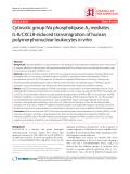 "Báo cáo y học: "" Cytosolic group IVa phospholipase A2 mediates IL-8/CXCL8-induced transmigration of human polymorphonuclear leukocytes in vitro"""