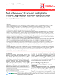 """Báo cáo y học: """" Anti-inflammatory treatment strategies for ischemia/reperfusion injury in transplantation"""""""