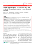 """Báo cáo y học: """"Gender differences and inflammation: an in vitro model of blood cells stimulation in prepubescent children"""""""