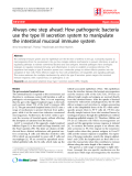 """Báo cáo y học: """"Always one step ahead: How pathogenic bacteria use the type III secretion system to manipulate the intestinal mucosal immune system"""""""