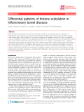 """Báo cáo y học: """"Differential patterns of histone acetylation in inflammatory bowel diseases"""""""
