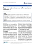 "Báo cáo y học: "" Deep venous thrombosis after office vasectomy: a case report"""