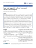 """Báo cáo y học: """"Fatal cold agglutinin-induced haemolytic anaemia: a case report"""""""