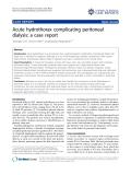 "báo cáo khoa học: ""Acute hydrothorax complicating peritoneal dialysis: a case report"""