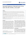 """báo cáo khoa học: """" Successful treatment of desmoid tumor of the chest wall with tranilast: a case report"""""""