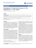 """báo cáo khoa học: """"Hyperplasia of lymphoid structures in the hypopharynx: a case report"""""""