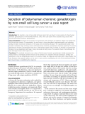 """báo cáo khoa học: """"Secretion of beta-human chorionic gonadotropin by non-small cell lung cancer: a case report"""""""