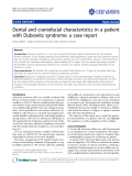 """báo cáo khoa học: """" Dental and craniofacial characteristics in a patient with Dubowitz syndrome: a case report"""""""