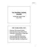 Bài giảng Thị trường chứng khoán - TS.Nguyễn Thị Bích Loan