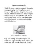 Bệnh do thừa muối