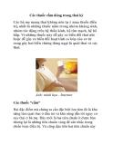 Các thuốc cấm dùng trong thai kỳ