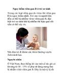 Nguy hiểm viêm gan B ở trẻ sơ sinh