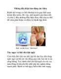 Những dấu hiệu báo động sức khỏe