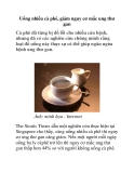 Uống nhiều cà phê, giảm nguy cơ mắc ung thư gan
