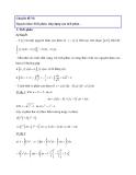 Chuyên đề VI: Nguyên hàm-Tích phân, ứng dụng của tích phân