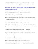 CHỦ ĐỀ 12. MỘT SỐ BÀI TOÁN HÌNH HỌC KHÔNG GIAN GIẢI BẰNG PP TOẠ ĐỘ