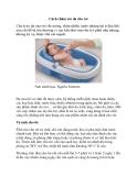 Cách chăm sóc da cho trẻ