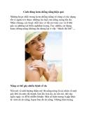 Cách dùng kem chống nắng hiệu quả