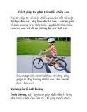 Cách giúp trẻ phát triển hết chiều cao