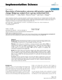 Association of intervention outcomes with practice capacity for change: Subgroup analysis from a group randomized trial