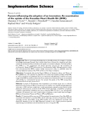 Factors influencing the adoption of an innovation: An examination of the uptake of the Canadian Heart Health Kit (HHK)