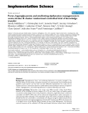 """Báo cáo y học: """"Fever, hyperglycaemia and swallowing dysfunction management in acute stroke: A cluster randomised controlled trial of knowledge transfer"""""""