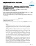 """Báo cáo y học: """" Can't do it, won't do it! Developing a theoretically framed intervention to encourage better decontamination practice in Scottish dental practices"""""""