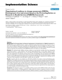 """Báo cáo y học: """"Organizational readiness to change assessment (ORCA): Development of an instrument based on the Promoting Action on Research in Health Services (PARIHS) framework"""""""