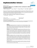 "Báo cáo y học: ""Contextual influences on health worker motivation in district hospitals in Kenya"""
