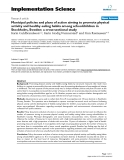 """Báo cáo y học: """"Municipal policies and plans of action aiming to promote physical activity and healthy eating habits among schoolchildren in Stockholm, Sweden: a cross-sectional study"""""""