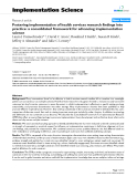 """Báo cáo y học: """" Fostering implementation of health services research findings into practice: a consolidated framework for advancing implementation science"""""""