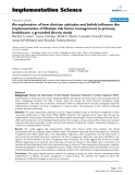 """Báo cáo y học: """"An exploration of how clinician attitudes and beliefs influence the implementation of lifestyle risk factor management in primary healthcare: a grounded theory study"""""""