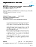 """Báo cáo y học: """"A typology of practice narratives during the implementation of a preventive, community intervention trial"""""""