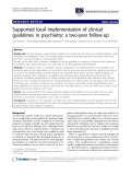 "Báo cáo y học: ""Supported local implementation of clinical guidelines in psychiatry: a two-year follow-up"""