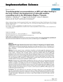 """báo cáo khoa học: """" Translating global recommendations on HIV and infant feeding to the local context: the development of culturally sensitive counselling tools in the Kilimanjaro Region, Tanzania"""""""