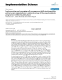 """báo cáo khoa học: """"Implementing and managing self-management skills training within primary care organisations: a national survey of the expert patients programme within its pilot phase"""""""