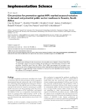 """báo cáo khoa học: """" Circumcision for prevention against HIV: marked seasonal variation in demand and potential public sector readiness in Soweto, South Africa"""""""