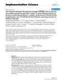 """báo cáo khoa học: """" The Ontario printed educational message (OPEM) trial to narrow the evidence-practice gap with respect to prescribing preting the care of individuals with diabetes and hypertension in Ontario, actices of general and family physicians: a cluster randomized controlled trial, targCanada"""""""