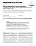"báo cáo khoa học: ""  A conceptual framework for implementation fidelity"""
