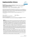 """báo cáo khoa học: """" Implementing academic detailing for breast cancer screening in underserved communities"""""""