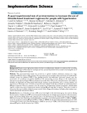 """báo cáo khoa học: """" A quasi-experimental test of an intervention to increase the use of thiazide-based treatment regimens for people with hypertension"""""""