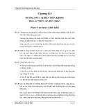 Phần II: Hệ thống đường dẫn điện