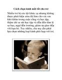 Cách chọn kính mắt tốt cho trẻ