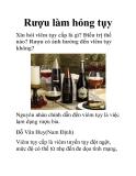 Rượu làm hỏng tụy
